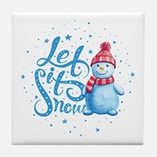 Let It Snowman Tile Coaster