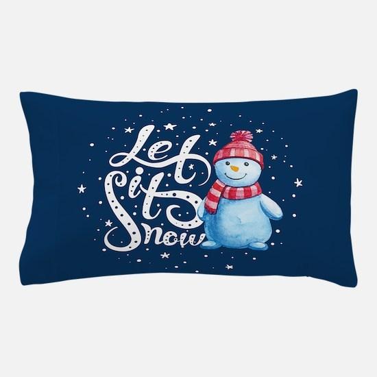 Let It Snowman Pillow Case