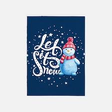 Let It Snowman 5'x7'Area Rug