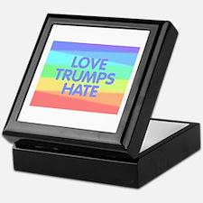 Love Trumps Hate Keepsake Box