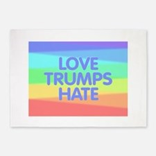 Love Trumps Hate 5'x7'Area Rug