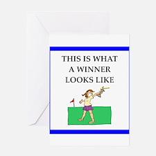 golf joke Greeting Cards
