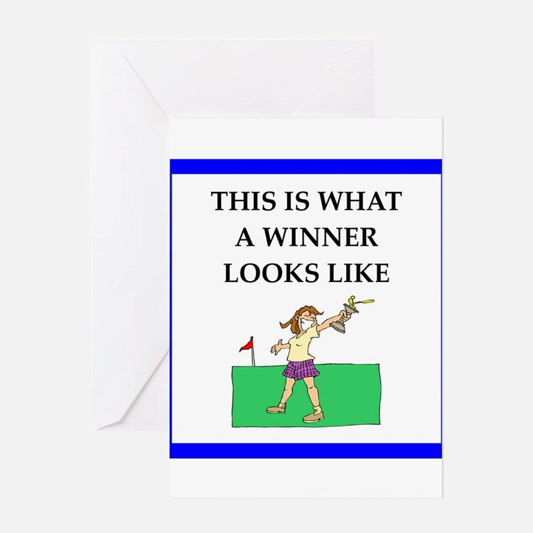 golf joke Greeting Cards