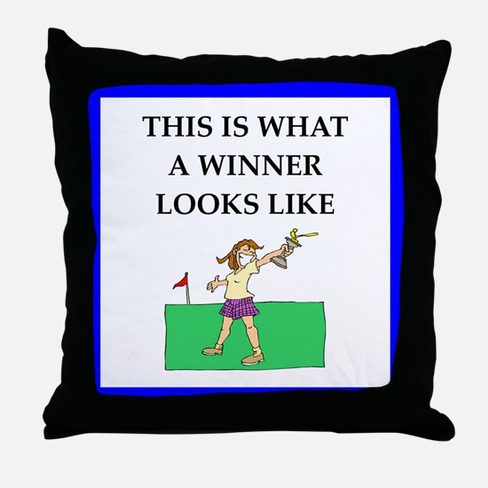 golf joke Throw Pillow