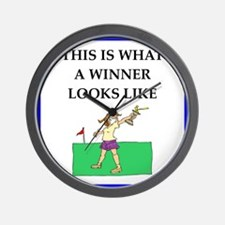 golf joke Wall Clock