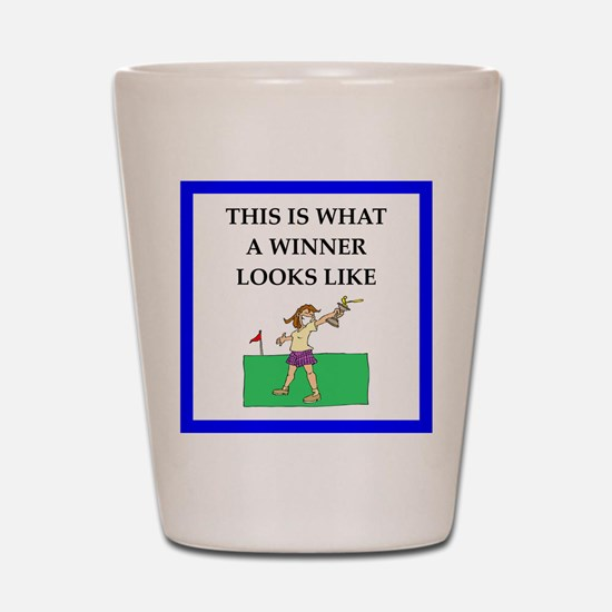 golf joke Shot Glass