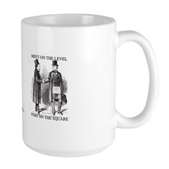Masons meet on the level Large Mug