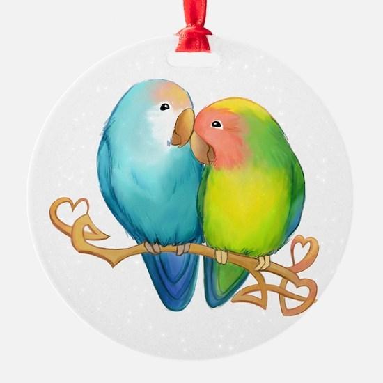 Funny Love birds Ornament