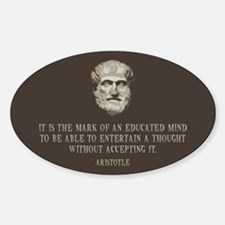 Aristotle Educated Mind Decal