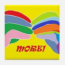ASL MORE Tile Coaster