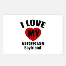 I Love My Nigeria Boyfrie Postcards (Package of 8)