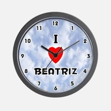 I Love Beatriz (Black) Valentine Wall Clock