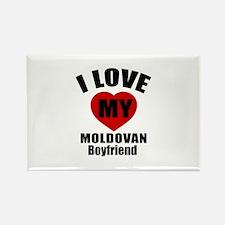 I Love My Moldova Boyfriend Rectangle Magnet