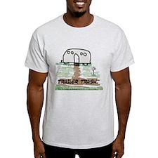Trailer Trash Ash Grey T-Shirt