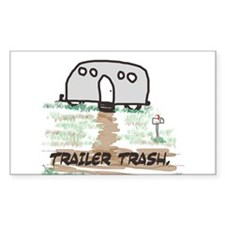 Trailer Trash Rectangle Decal