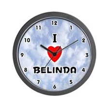 I Love Belinda (Black) Valentine Wall Clock