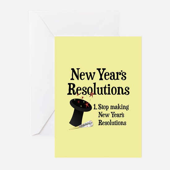 New Years Resolutions Greeting Cards (Pk of 20)