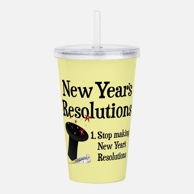 New Years Resolutions Acrylic Double-wall Tumbler
