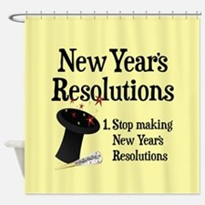 New Years Resolutions Shower Curtain
