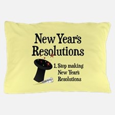 New Years Resolutions Pillow Case