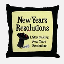 New Years Resolutions Throw Pillow