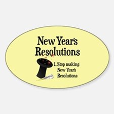 New Years Resolutions Sticker (Oval)