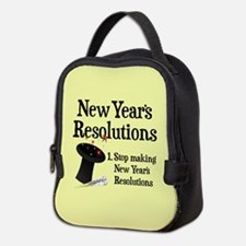 New Years Resolutions Neoprene Lunch Bag