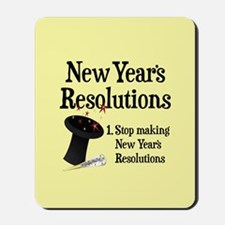 New Years Resolutions Mousepad