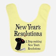New Years Resolutions Polyester Baby Bib