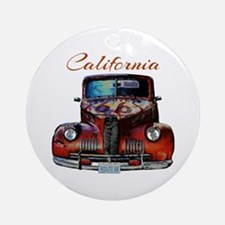 California Route 66 Truck Round Ornament