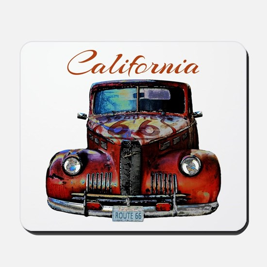 California Route 66 Truck Mousepad