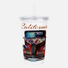 California Route 66 Truck Acrylic Double-wall Tumb