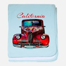 California Route 66 Truck baby blanket