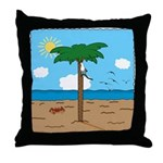 Bassoon Beach - Throw Pillow