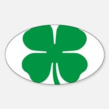 Four Leaf Clover Rectangle Decal