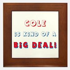Cole Is Kind of a Big Deal  Framed Tile
