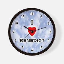 I Love Benedict (Black) Valentine Wall Clock