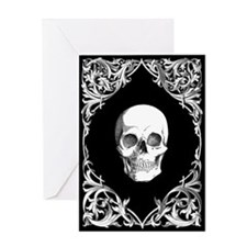 Black Elegant Skull Greeting Card