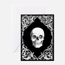 Black Elegant Skull Greeting Card