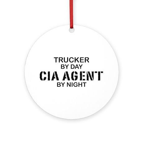 Trucker CIA Agent Ornament (Round)