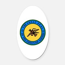 Cute Chickasaw Oval Car Magnet