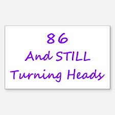 86 Still Turning Heads 2 Purple Decal