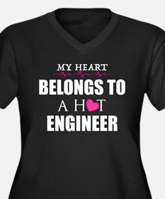 MY HEART BELONGS TO A HOT ENGINEER Plus Size T-Shi