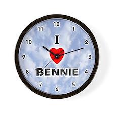 I Love Bennie (Black) Valentine Wall Clock