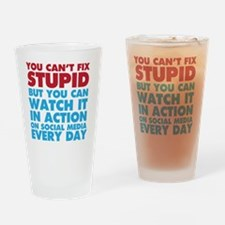 Funny Facebook is stupid Drinking Glass