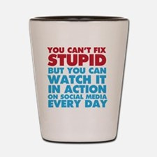 Funny Facebook is stupid Shot Glass