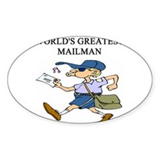 mailman gifts t-shirts Oval Decal