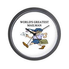 mailman gifts t-shirts Wall Clock