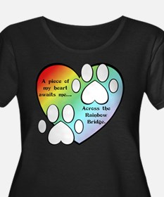 Rainbow Bridge Heart Plus Size T-Shirt