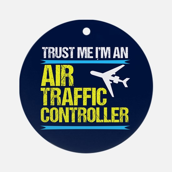 Air Traffic Controller Round Ornament